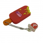 Ice Cream Style USB 2.0 Flash Drive Disk - Red + Multicolor (8GB)