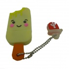 Ice Cream Style USB 2.0 Flash Drive Disk - Yellow  Multicolor (8GB)