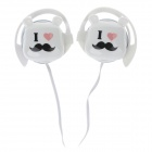 Sibyl G9 Stylish Stereo Ear Hook Headphones - White + Black + Pink (3.5mm Plug / 112cm-Cable)