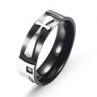 EQute RSSC8MS10 Fashion 316L Stainless Steel Cross Love Man's Ring (Size 10)