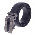 Fashionable Second Layer Cowhide Leather Men's Waist Belt w/ Zinc Alloy Buckle - Black