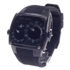 SPEATAK SP9039G Fashion Dual Time Display + Simple Calendar Men's Quartz Wristwatch - Black