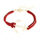 Fashionable Characteristic Anchor Pattern Bracelet - Red + Golden