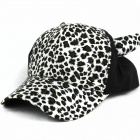 Trend Leopard Canvas Cap - Black + White