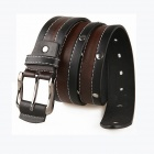 Fashionable Men's Cow Split Leather Belt - Black + Brown
