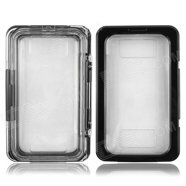 Protective Waterproof Case for Samsung Galaxy Note 3 N9000 / Note 2 N7100 - Black + Transparent