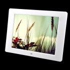 "C1-8 12"" LED Desktop Digital Photo Frame w/ SD / MMC / USB / Earphone / DC In Slot - White (16MB)"
