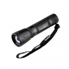 TANK007 Waterproof TK-736 CREE XR-E Q5 200LM 5-Mode Zooming Flashlight w/ Strap - Black (1 x 18650)
