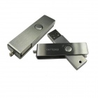 Ourspop U300 metal del eslabón giratorio USB 2.0 Flash Drive - plata (8 GB)