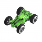 WLToys 2308 High-Speed USB Charging 5-CH Two-Stunt Car Model w/ Remote Controller - Green + Blue