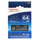 Toshiba TransMemory MX USB 3.0 Flash Drive Disk - Black + Grey (64GB / Read Speed 130MB/sec)