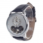 JARAGAR Fashionable + Simple Rome Digital Mechanical Watches - Black + Silver + White