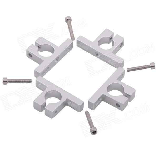 Aluminum Alloy 12mm T-shape Quadcopter Motor Mounting Bracket for All 4-Axis Motors - Silver (4 PCS) 10pcs m3 aluminum column 6 10 15 25mm 20mm 28mm 30mm 35mm round aluminum alloy pillar standoff spacer fastener anti slip for rc