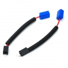 H1 Car Light Connection Extender Spring Cable - Black + Blue (2 PCS)