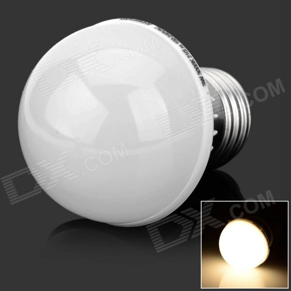 HML E27 3W 210lm 3000K 12 x SMD 4014 LED Warm White Light Bulb - (AC 100~240V) - DXE27<br>Color White + Silver Color BIN Warm White Brand HML Model 4014 Material PC + Aluminum alloy Quantity 1 Piece Power 3W Rated Voltage AC 100-240 V Connector Type E27 Chip Brand SSC Chip Type 4014 Emitter Type Others4014 SMD LED Total Emitters 12 Theoretical Luminous 300 lumens Actual Luminous 210 lumens Color Temperature 3000 K Dimmable no Beam Angle 200 ° Certification CE / FCC / RoHS Other Features High quality long life Packing List 1 x LED light<br>