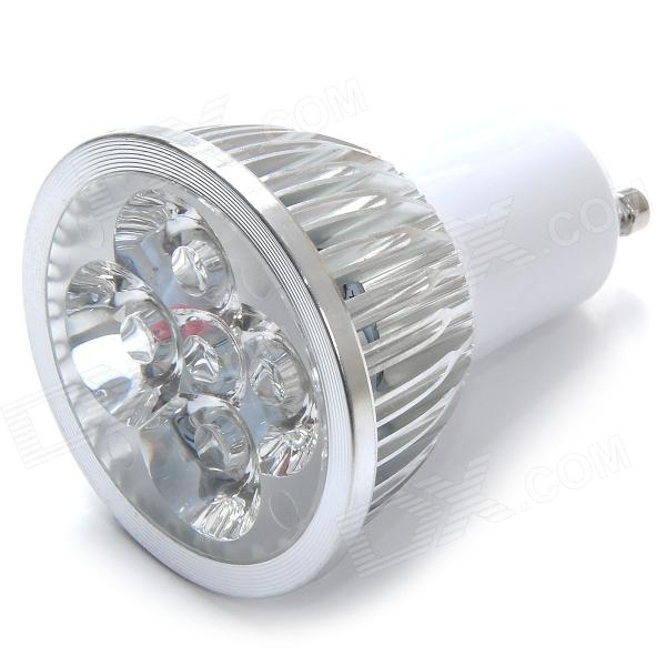 GU10 4W 500lm 6000K 4-LED White Light Lamp Bulb - Silver + White (85~265V) original bare lamp bulb ec j9000 001 for acer x1130 x1130k x1130p x1130pa x1130s x1230 x1230s x1237 projectors etc