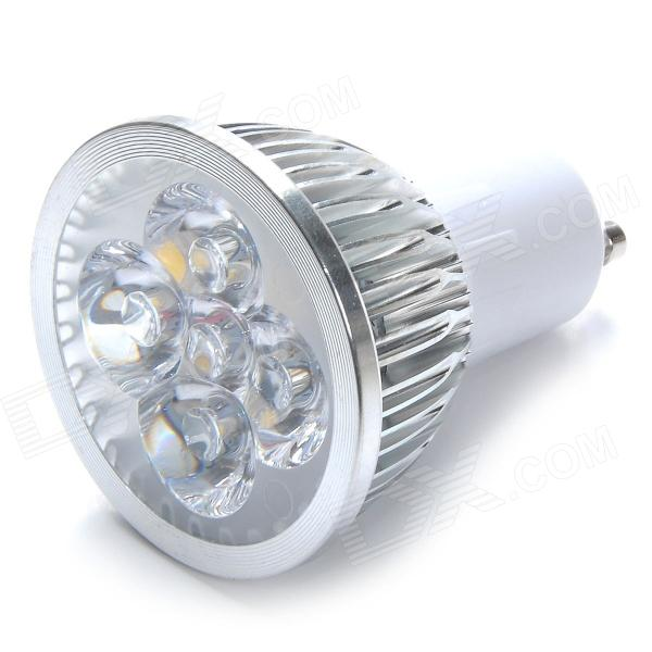 GU10 4W 500lm 3000K 4-LED Warm White Light Lamp Bulb - Silver + White (85~265V)