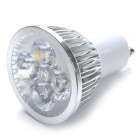 GU10 4W LED Spotlight 500lm 3000K Warm White Light - Silver + White (85~265V)