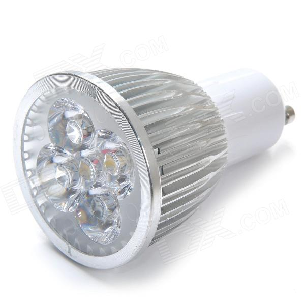 GU10 5W 600lm 3000K 5-LED Warm White Light Bulb - Silver + White (AC 85~265V)