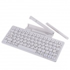KB-1303 78-Key Bluetooth Keyboard for IphoneIpad 2/3 Samsung Galaxy S3 Galaxy 10.1 Tablet - White