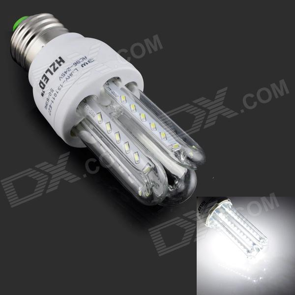 HZLED E27 3W 270lm 6000K 36 x SMD 3014 LED White Light Lamp - White + Silver (AC 85~265V) hzled e27 9w 810lm 6000k 96 x smd 3014 led white light lamp bulb white silver ac 85 265v