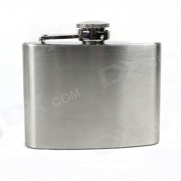 Portable Stainless Steel  Liquor Flask - Silver (4oz)