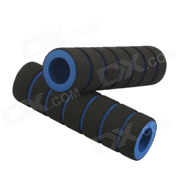 Sponge Non-Slip Handlebar Grip Covers for Bicycle - Blue+ Black (Pair) cycling grips bicycle bar end handlebar pair blue