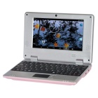 "HL-789 7.0"" Screen Android 4.4.2 Netbook w/ Wi-Fi / RJ45 / Camera / HDMI / SD Slot - Pink"