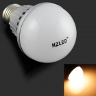 HZLED E27 7W 575lm 3000K 14 x SMD 5630 LED Warm White Light Bulb - White + Silver (AC 220V)