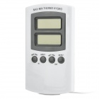 "DTH-11 1.6"" LCD Alarming Thermometer / Hygrometer - White (1 x AA)"