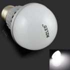 HZLED E27 5W 450lm 6000K 10-SMD 5630 LED White Light Lamp Bulb - White + Silver (AC 220V)