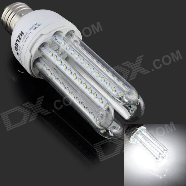 HZLED E27 9W 810lm 6000K 96 x SMD 3014 LED White Light Lamp Bulb - White + Silver (AC 85~265V) e27 9w 9 led 810 lumen 6000k white light bulb 85 265v ac