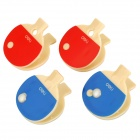 Competent 9495 Table Tennis Racket Style Plastic Bill Clips - Red + Blue (4 PCS)
