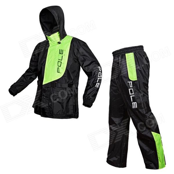 Pole M-21 Motorcycle Bicycle Men's Rainproof Raincoat + Pants + Waist Bag Set (Size XL)