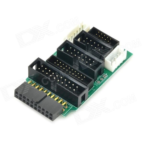 ARM JTAG Adapter Plate - Green + Black