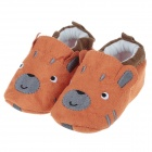 Cute Dog Style Comfortable Cotton Baby Shoes - Orange + Grey (3~6 Months / Pair)