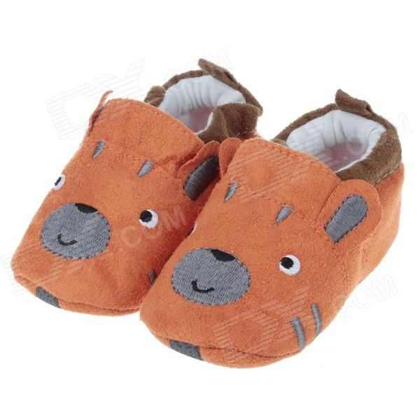 Cute Dog Style Comfortable Cotton Baby Shoes - Orange + Grey (6~9 Months / Pair)