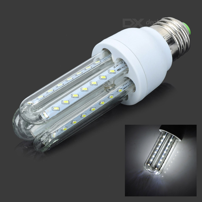 E27 5W 450lm 6000K 48 x SMD 3014 LED White Light Lamp Bulb - White + Silver (AC 85~265V) hzled e27 9w 810lm 6000k 96 x smd 3014 led white light lamp bulb white silver ac 85 265v