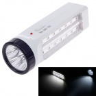 RL RL-5014 Rechargeable 3W 133lm 6000K 14 + 5-LED White Light Emergency Lamp - White + Black