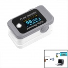 Bluetooth Fingertip Pulse Oximeter - Gray + White (2 x AAA)