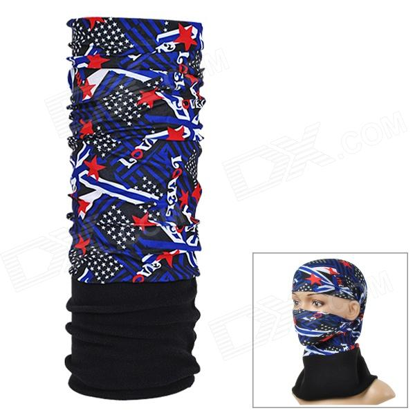 NUCKILY PH04 Outdoor Fleece Headscarf - Black + Dark Blue футболка hardlunch outdoor pocket f15 dark blue l