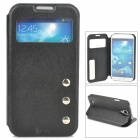 Protective PU Leather Flip-open Case for Samsung Galaxy S4 i9500 - Black