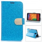 Shining Protective PU Leather Case for Samsung Galaxy Note 3 N9000 - Blue