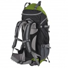 Creeper YD-183 Outdoor Nylon Mountaineering Backpack Bag - Green + Black (60L)