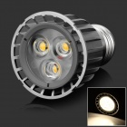 HML High Quality E27 6W 540lm 3000K 3-LED Warm White Spot Light Lamp Bulb - (85~265V)