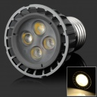 HML High Quality E27 5W 450lm 3000K 4-LED Warm White Spot Light Lamp Bulb - (85~265V)