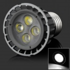 HML High Quality E27 5W 450lm 6000K 4-LED White Spot Light Lamp Bulb - (85~265V)