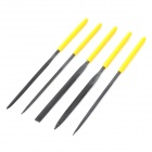 LODESTAR L615305 Precise Steel Needle Files Tool Set - Black + Yellow (5 PCS)