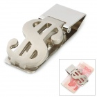 US Dollar Style Design Stainless Steel Money Cash Clip - Silver