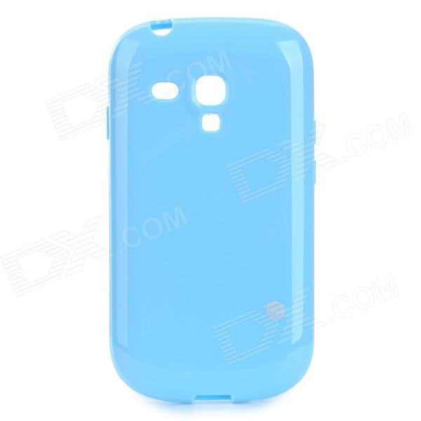 Protective TPU Back Case for Samsung Galaxy S3 Mini i8190N / i8190 / i8160 - Sky Blue stylish protective back case for samsung i8190 galaxy s3 mini yellow translucent